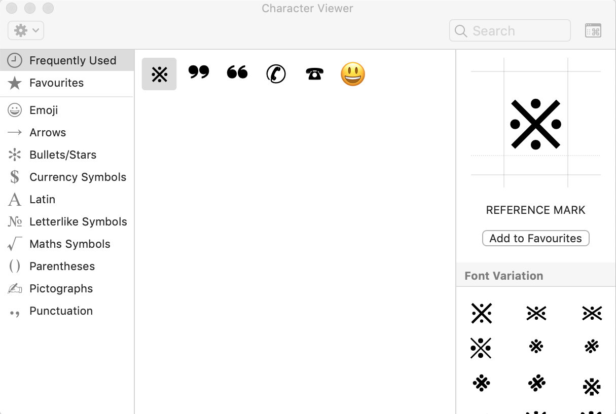 Character View