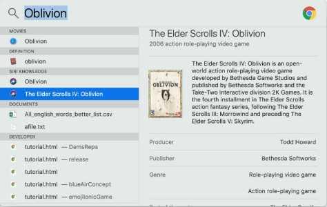 Spotlight search Video Games