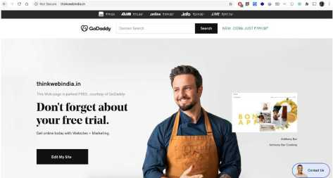 thinkwenindia.in-on-godaddy