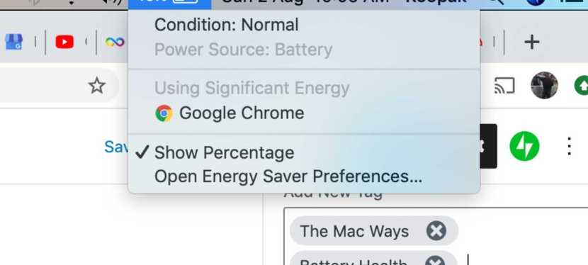 Check the Health of your MAC Battery