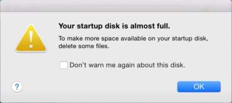 Startup Disk Almost Full